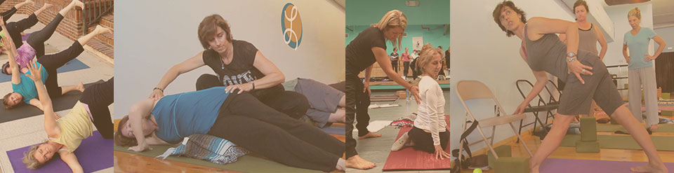 Lisa Long teaches Yoga and Pilates to help relieve back pain, neck and shoulder pain, hip pain.
