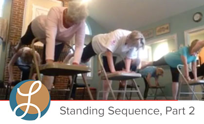 Chair Yoga Standing Poses. A free video practice.