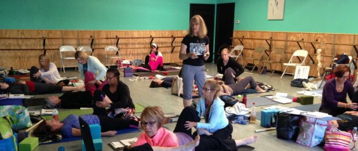 jenny otto leads a yoga therapy training in jacksonville florida