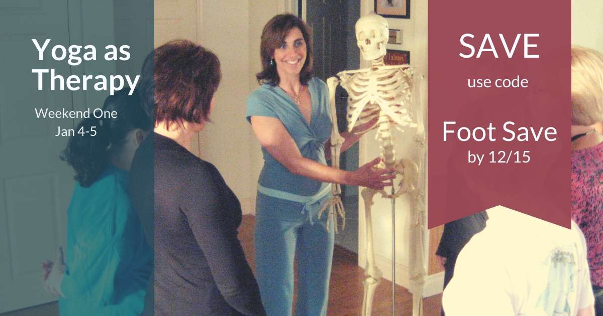 woman with a skeleton for yoga training title=