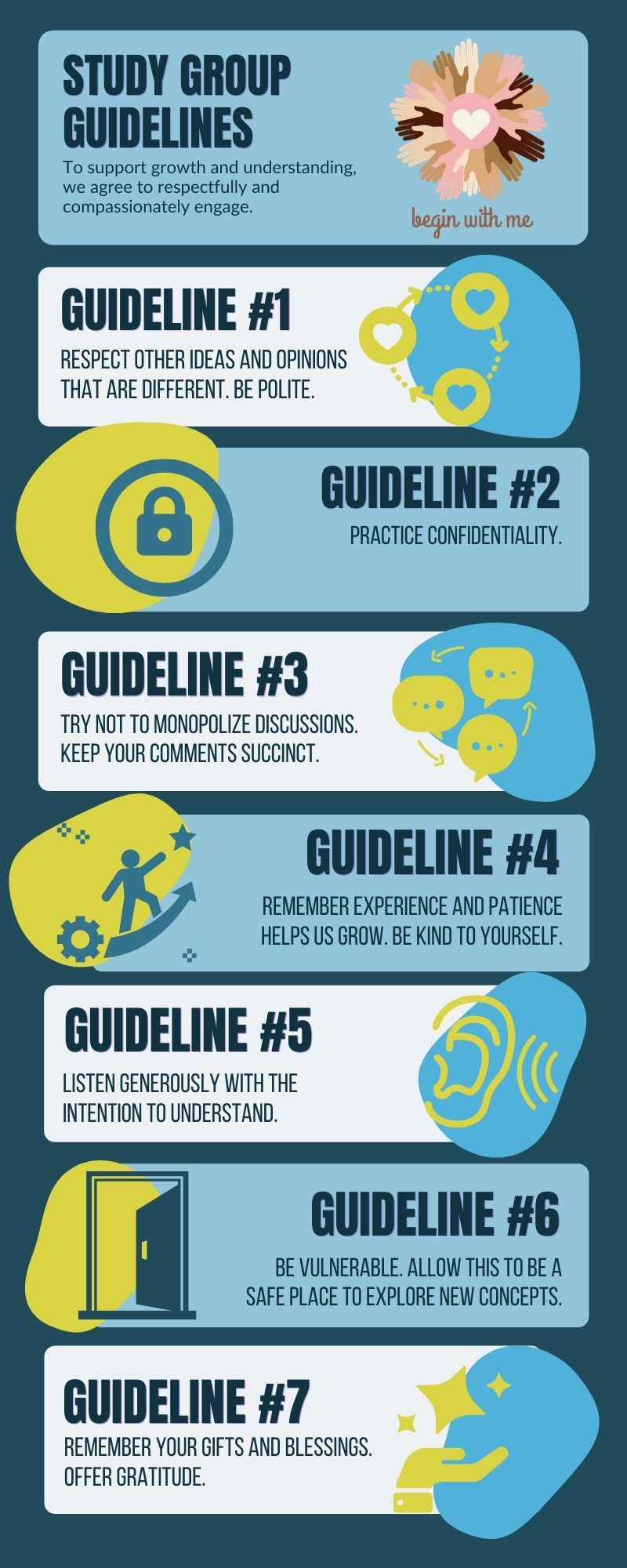 info graphic of study group guidelines