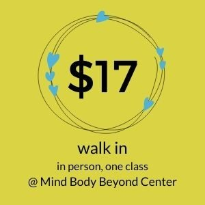 walk in for a yoga as therapy class at mind body beyond for $17